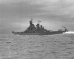 USS New Jersey at sea, date unknown