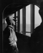 William Halsey aboard USS New Jersey, date unknown