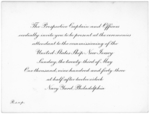 Invitation to the commissioning ceremony of USS New Jersey, early 1943