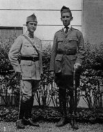 2nd Lieutenant Bernard Larlenque and Julien Bryan at the Larlenque residence, Paris, France, 1917