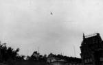 German aircraft in flight over Warsaw, Poland, Sep 1939