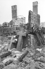Bomb damaged Brodno Cemetery, Warsaw, Poland, Sep 1939
