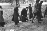 Civilians digging anti-tank trenches, Warsaw, Poland, Sep 1939