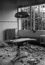 Damaged operating room, Catholic Hospital of the Transfiguration, Praga, Warsaw, Poland, Sep 1939