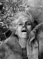 Female victim of German aerial bombing, Warsaw, Poland, Sep 1939