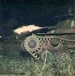 Type 97 Chi-Ha tank of 1st Tank Division during a night exercise in northeastern China, 2 Jan 1943