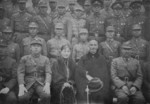 Chiang Kaishek at a celebration for his birthday, Si Wei Tang, Luoyang, Henan Province, China, 31 Oct 1936; L to R: Xu Yongchang, Zhang Xueliang, Song Meiling, Chiang Kaishek, Yan Xishan