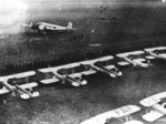 Ju 52, Fw 44, and He 72 aircraft at Celle Airfield, Germany, 1935