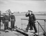 Alexandros Sakellariou aboard cruiser Giorgios Averoff, Port Said, Egypt, 23 Feb 1943