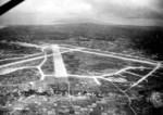 Aerial view of Yontan Airfield Okinawa, Japan, 1945