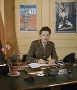 Director of Auxiliary Territorial Service Jean Knox at her desk, England, United Kingdom, 1941-1943