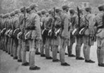 A Chinese military police unit during a review, Chongqing, China, 1938, photo 3 of 4