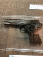 Pistolet wz. 35 Vis semi-automatic pistol on display at ORP Blyskawica, Gdynia, Poland, 15 Jun 2019