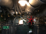 Main electromechanical control station below decks, ORP Blyskawica, Gdynia, Poland, 15 Jun 2019