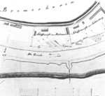 Earliest known shipyard plan of Rickmers shipyard, Bremerhaven, Germany, 1847