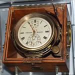 Chronometer from the German U-505 at the National Museum of the United States Navy in Washington DC, 20 Dec 2018.