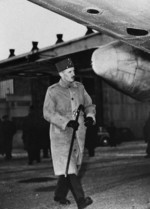 Philippe Leclerc preparing for his departure to Indochina, France, 31 Dec 1946