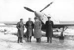 IK-3 designers with Yugoslav Air Force officers and IK-3 No 2, 1938-1939