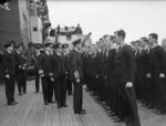 King George VI of the United Kingdom aboard HMS Howe at Scapa Flow, Orkney Islands, Scotland, United Kingdom, 18-21 Mar 1943.
