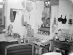 Recently freed internees in their quarters at Stanley Internment Camp, Hong Kong, Aug-Sep 1945