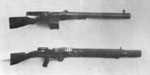 Huot automatic rifle (above) and Lewis gun (below), 1918, photo 1 of 2