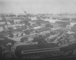 Danziger Werft facilities, date unknown; main shipbuilding hall in foreground and additional slips just beyond