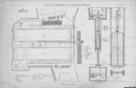 1905 plan of auxiliary equipment for dry dock VI of Kaiserliche Werke Kiel, Germany