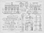 1903 plan of auxiliary equipment for dry docks I to IV of Kaiserliche Werke Kiel, Germany
