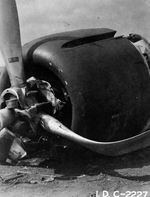Shigenori Nishikaichi's A6M Zero fighter after he crash landed on Ni