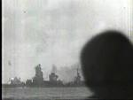 Ise during a gunnery exercise, Seto Inland Sea, Japan, 1944, photo 2 of 2