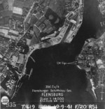 Aerial photograph of Flensburger Schiffbau facilities, Flensburg, Germany, 19 Sep 1941