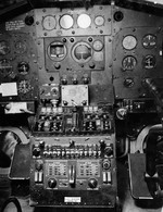 Instrument panel of a Martin PBM-3R Mariner stationed at the Naval Air Station Banana River, Florida, United States, 24 Feb 1943. Photo 2 of 3.