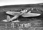 German He 111 medium bomber after crash landing near Humbie, Scotland, United Kingdom, 28 Oct 1939. This bomber was on a reconnaissance mission when it was shot down by British fighters.