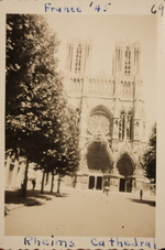 Notre-Dame de Reims cathedral, Reims, France, May 1945