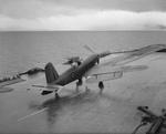 Firebrand IV aircraft aboard HMS Illustrious on the Clyde, Scotland, United Kingdom, 8-9 Feb 1943, photo 3 of 11