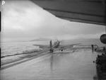 Firebrand IV aircraft aboard HMS Illustrious on the Clyde, Scotland, United Kingdom, 8-9 Feb 1943, photo 2 of 11