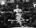 Aerial view of the White House, Washington DC, United States, 23 Oct 1940.