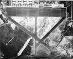 Straight down aerial view of Hickham Army Air Field, 1 Oct 1941.
