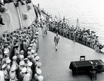 MacArthur and Nimitz aboard USS Missouri, 2 Sep 1945. Photo 1 of 3