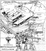 Shipyard plan for Deutsche Werke Gotenhafen, Gdynia, occupied Poland, 1944