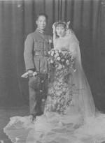Wedding photo of Chen Cheng and Tan Xiang, 1932