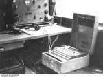 Enigma machine in a radio car of German 7th Panzer Division, 16 Aug 1941