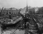The King George double dry dock of Tecklenborg shipyard, Bremerhaven, Germany, date unknown