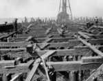 Pier under construction, Naval Ammunition Depot Earle, Middletown, New Jersey, 1943