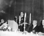 Jack Kleiss speaking at Villanova University, Pennsylvania, United States, 16 Nov 1957
