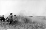 5 cm PaK 38 gun in action, Kharkiv, Ukraine, mid-Aug 1943