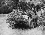 German 5 cm PaK 38 gun captured by Polish fighters, gardens outside of Krasinski Palace, Warsaw, Poland, 11 Aug 1944, photo 2 of 2