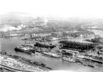 View of Howaldtswerke shipyard, Hamburg, Germany, date unknown