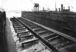 25,000-ton floating dry dock, Howaldtswerke shipyard, Hamburg, Germany, date unknown