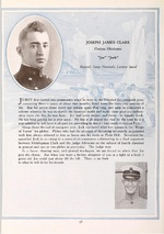 Cadet J.J. Clark's page from the Naval Academy's 'Lucky Bag' yearbook for the class of 1918 (graduated early in 1917).